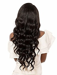 cheap -Women Human Hair Lace Wig Brazilian Remy Glueless Lace Front 180% 150% 130% Density With Baby Hair Body Wave Wig Medium Brown Dark Brown
