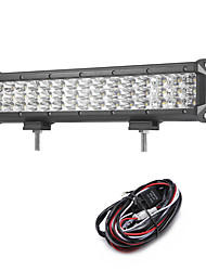 135W 13500LM 6000K 3-Rows LED Work Light Cool White Combo Offroad Driving Light for Car/Boat/Headlight IP68 9-32V  2m 1-To-1 Wiring Harness Kit