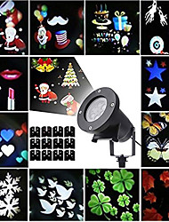 Christmas Laser Projector Lights Halloween Outdoor Laser Light LED Rotating Projector with 12 Replaceable Colorful Slides Waterproof Snowflakes