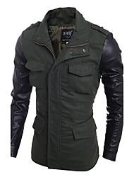 cheap -Men's Simple Casual Punk & Gothic Street chic Jacket-Color Block