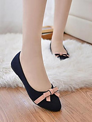 Women's Shoes Nubuck leather Spring Summer Ballerina Flats For Casual Beige Black