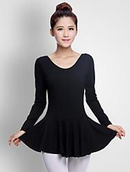 cheap -Ballet Women's Performance Cotton Long Sleeve Natural Dresses