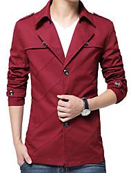 abordables -Veste Homme - Couleur Pleine Coton
