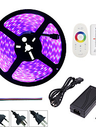 1set hkv® 5m 72w rgb 5a adaptador uk conecte-nos plug eu plug strip strip 5050 invólucro impermeável 2.4g touch screen rf remote