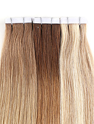 cheap -Tape In Human Hair Extensions Human Hair Straight 20Pcs/Pack 16 inch