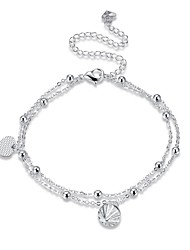 cheap -Women's Anklet/Bracelet Silver Plated Alloy Fashion Classic Heart Geometric Jewelry For Party Gift Daily Casual Evening Party