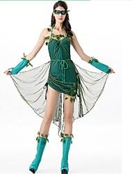 economico -Robin Hood Vestiti Costumi Cosplay Stile Carnevale di Venezia Donna Natale Halloween Carnevale Feste / vacanze Costumi Halloween Verde