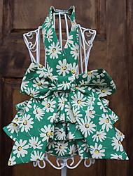 abordables -Chien Robe Vêtements pour Chien Soirée Décontracté / Quotidien Géométrique Jaune Rouge Vert Costume Pour les animaux domestiques