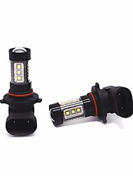 cheap -2PCS 80W 4000LM 9005 9006 LED Fog Light Bulb Aluminium Material Heat Dissipation White Color
