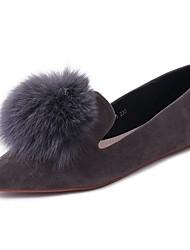 preiswerte -Damen Schuhe Kaschmir Herbst Komfort Flache Schuhe Flacher Absatz Spitze Zehe Bommel Für Normal Schwarz Grau Kamel