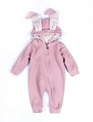cheap -Baby Kids Patchwork One-Pieces,Cotton Spring/Fall Long Sleeve White Blushing Pink Gray Light Blue