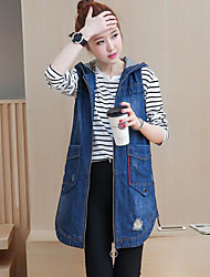 cheap -Women's Street chic Vest-Solid Colored