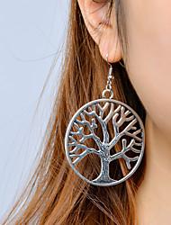 Mulheres Brincos Compridos Moda Vintage Liga Árvore da Vida Jóias Para Casual