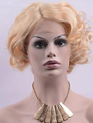preiswerte -Synthetische Lace Front Perücken Blond Damen Spitzenfront Karnevalsperücke Halloween Perücke Promi-Perücke Party-Perücke Drag-Queen