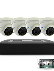 cheap -4CH 1080N DVR kits 4pcs Dome CCTV Camera Security System Indoor Day Night IR-CUT 3.6mm