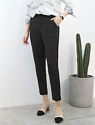 cheap -Women's High Rise Micro-elastic Harem Chinos Business Pants,Casual Solid Fall