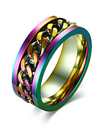 cheap -Men's Band Rings Rock Hip-Hop Stainless Steel Round Jewelry Party Club