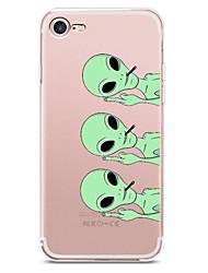 preiswerte -Hülle Für Apple iPhone X iPhone 8 iPhone 8 Plus Ultra dünn Transparent Muster Rückseitenabdeckung Cartoon Design Weich TPU für iPhone X