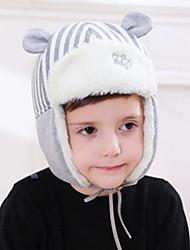 Недорогие -Для детей Головные уборы,Зима Осень,Хлопок / нейлон с намеком на участке Черный Красный Серый