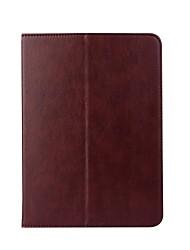 pour le portefeuille de titulaire de carte de couverture de cas avec support flip auto sommeil / réveil plein corps cas couleur unie dur