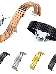 cheap -For Samsung Gear S3 Watchband Stainless Steel Metal Milanese Clasp Smart Watch Band Strap