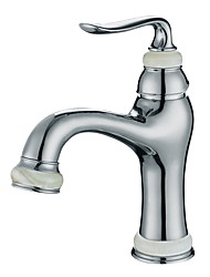 Classic Style Centerset High Quality Ceramic Valve Single Handle One Hole Chrome , Bathroom Sink Faucet