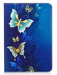 preiswerte -Hülle Für Samsung Galaxy Tab S2 8.0 Ganzkörper-Gehäuse Tablet-Hüllen Schmetterling Hart PU-Leder für