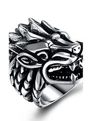 preiswerte -Herrn überdimensional Edelstahl Statement-Ring - Metallisch / überdimensional / Modisch Silber Ring Für Zeremonie / Klub