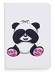 preiswerte -panda muster kartenhalter brieftasche mit standplatz flip magnetische pu ledertasche für samsung galaxy tab s2 8,0 t710 t715 8,0 zoll