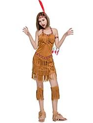 abordables -indien américain Costume de Cosplay Noël Halloween Carnaval Fête d'Octobre Nouvel an Fête / Célébration Déguisement d'Halloween Marron