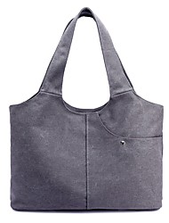 cheap -Women Bags Canvas Shoulder Bag Zipper for Casual All Seasons Blue Beige Gray Coffee