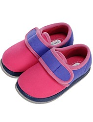 cheap -Girls' Shoes Fleece Winter Spring First Walkers Comfort Flats Magic Tape Split Joint for Casual Light Purple