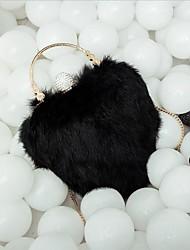 economico -Per donna Sacchetti Pelliccia Borsa a tracolla Con Piume / in pelliccia per Serata/evento Casual Inverno Bianco Nero Rosa Grigio Viola