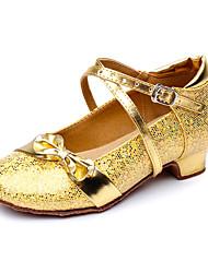 cheap -Women's Kids' Dance Shoes Sparkling Glitter Paillette Practice Gold