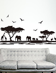 Animals Fashion Wall Stickers Plane Wall Stickers Decorative Wall Stickers,Plastic Material Home Decoration Wall Decal