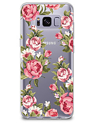 cheap -For Case Cover Transparent Pattern Back Cover Case Flower Soft TPU for Samsung Galaxy S8 Plus S8 S7 edge S7 S6 edge plus S6 edge S6 S6