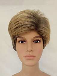 cheap -Synthetic Wig Straight Layered Haircut Brown Men's Capless Natural Wigs Short Synthetic Hair