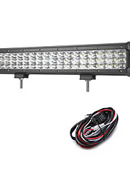 162W 16200LM 6000K 3-Rows LED Work Light Cool White Combo Offroad Driving Light for Car/Boat/Headlight IP68 9-32V  2m 1-To-1 Wiring Harness Kit