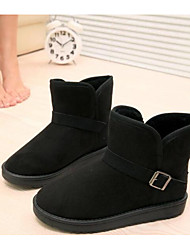 cheap -Women's Shoes Fleece Winter Snow Boots Fashion Boots Boots Flat Heel Booties/Ankle Boots For Casual Black Yellow Brown
