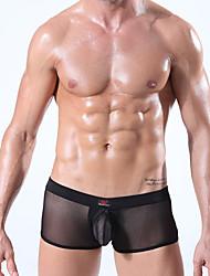 cheap -Men's Solid Briefs  Underwear,Polyester