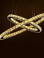 cheap -2-Light Crystal Flush Mount Ambient Light - Crystal, Anti-Glare, 110-120V / 220-240V, Warm White, LED Light Source Included / 5-10㎡ / LED Integrated