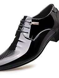 Недорогие -Для мужчин обувь Лакированная кожа Осень Зима Формальная обувь Туфли на шнуровке Назначение Повседневные Для вечеринки / ужина Черный