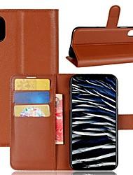 Недорогие -Кейс для Назначение Apple iPhone X iPhone 8 iPhone 8 Plus Кошелек Бумажник для карт Флип Чехол Сплошной цвет Твердый Искусственная кожа