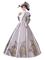 cheap -Victorian Rococo Costume Women's Party Costume Masquerade White Vintage Cosplay Satin Long Sleeves