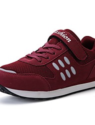 cheap -Women's Shoes Tulle Spring Fall First Walkers Athletic Shoes Walking Shoes Flat Heel Round Toe Lace-up Hook & Loop For Casual Purple