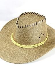 Недорогие -Для мужчин Шапки Богемный Соломенная шляпа,Лето Солома Пэчворк Чистый цвет