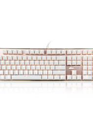 Недорогие -ajzz кристалл цвет кристалл ослеплять сплав механическая клавиатура игра 108 клавиш синий переключатели