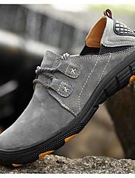 baratos -Tênis de Corrida Sapatos de Montanhismo Homens Respirabilidade Esportes Relaxantes Cano Baixo Pele Borracha Equitação Corrida