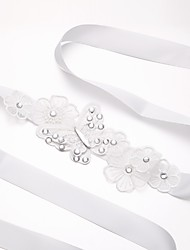 cheap -Women's Rhinestone Skinny Belt,Irregular Style Solid Pure Color Bow