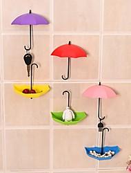 Недорогие -3шт красочный зонтик настенный крючок ключ держатель держателя шпильки держатель декоративный цвет ramdon